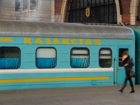 Kazansky Rail Terminal, train to Kazakhstan (Казанский Вокзал, поезд в Казахстан)