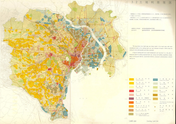 1961 City Planning for Tokyo maps 17-18